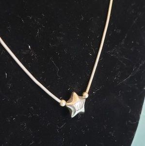 925 Italian Sterling Silver Snake Chain w/ Star